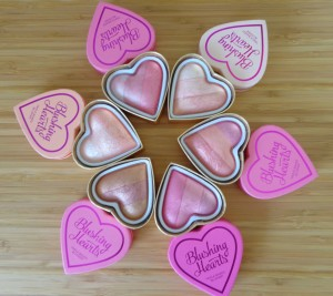 Makeup Revolution: I Heart Makeup Triple Baked Blushing Hearts Blushes.