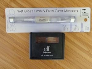 E.L.F. brow kit in medium and clear brow mascara