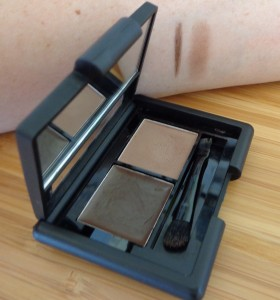 E.L.F. eyebrow kit in medium with swatches of wax and powder.