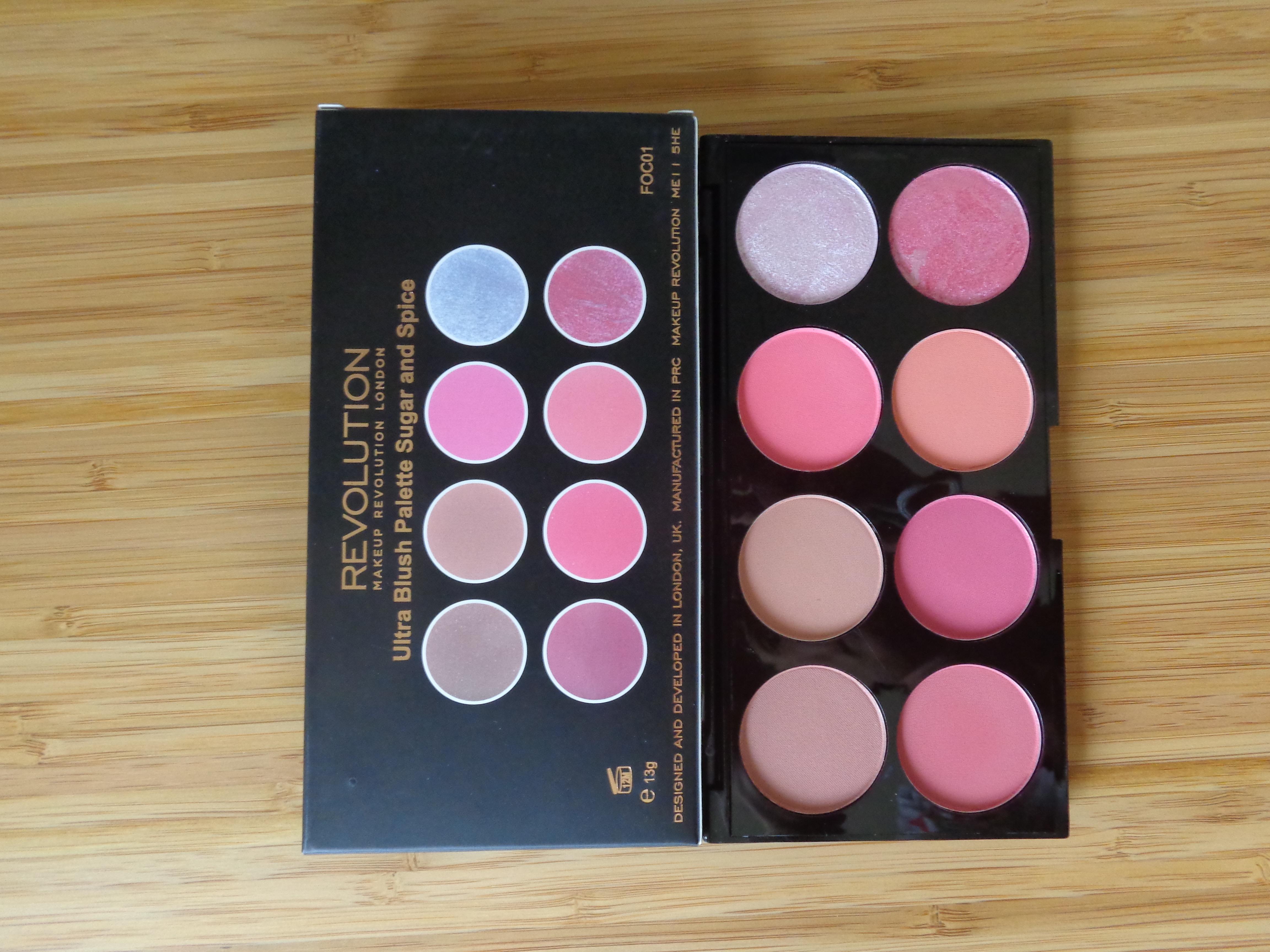 Makeup Revolution: Sugar and Spice Blush Palette