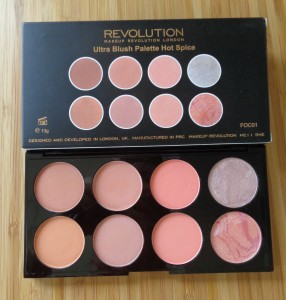 Makeup Revolution: Hot Spice Blush Palette