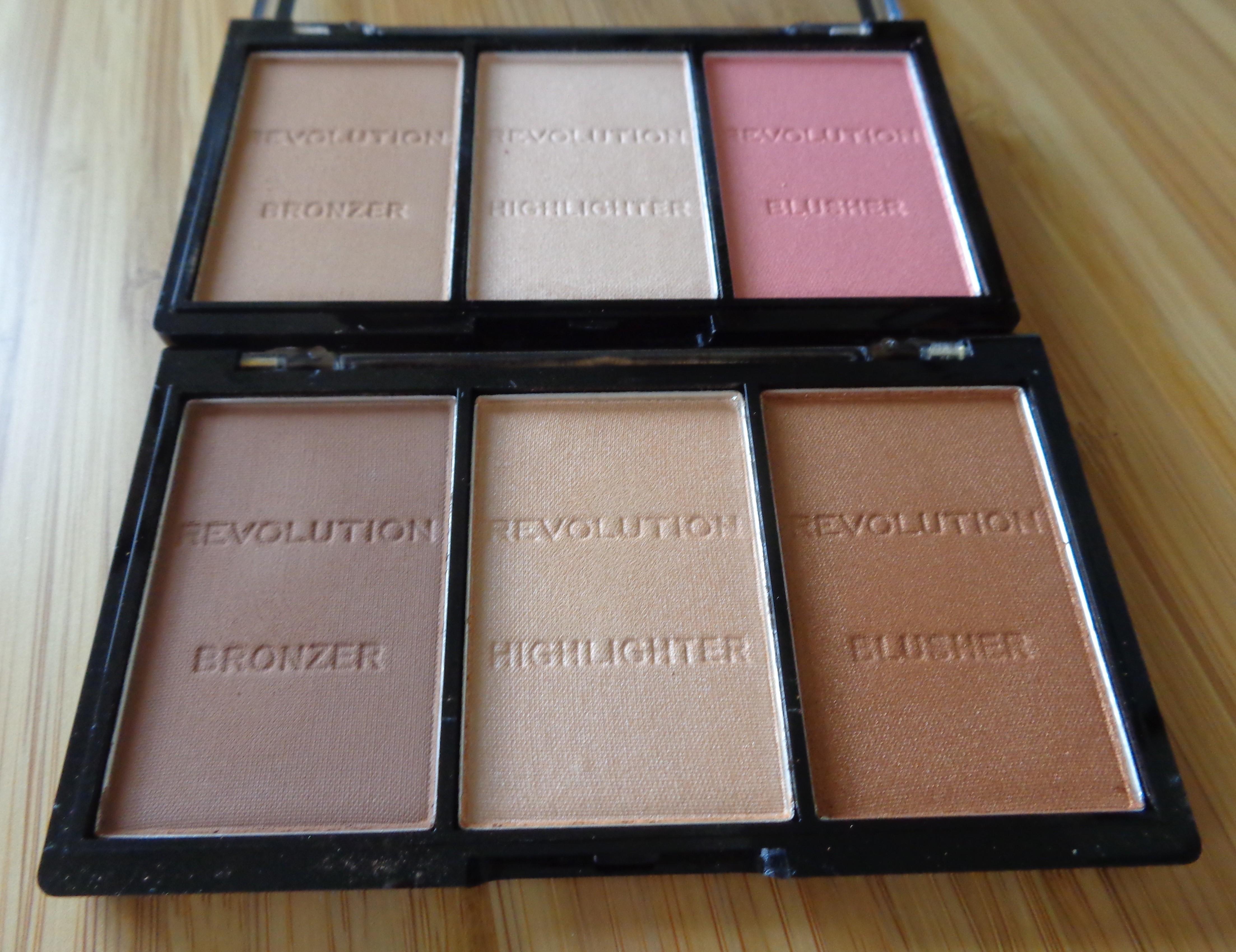 Makeup Revolution Ultra Sculpt & Contour Kits: Top - Ultra Light; Bottom - Ultra
