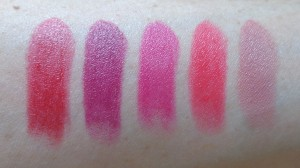 Iconic Pro Lipstick swatches: Propoganda, No Perfection Yet, Make it in the City, Not in Love and You're a Star.