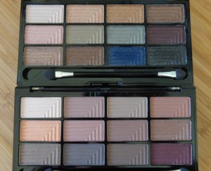 Freedom Makeup London Pro 12 Eyeshadow Palettes: Romance and Jewels (top) and Secret Rose (bottom)