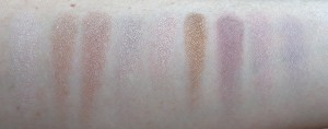 Swatches: walking hand in hand, heads turning, camera rolling, bridge at midnight, lights flashing, frenzy all down your spine, give me shudders, shooting star and one in a million.