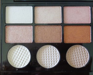 Makeup Revolution Salvation Palette: Girl Panic - left of palette