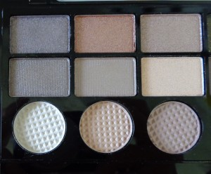 Makeup Revolution Salvation Palette: Hard Day - left of palette