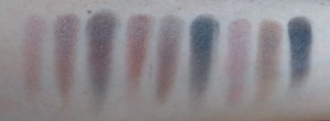 Swatches: moving car, do it alone, sex chromosome, shut my eyes, stupid H..., life is short, hot track, brand new fans, wicked style.