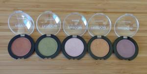 Gilded mono eyeshadows: 218, 219, 216, 217, 220.
