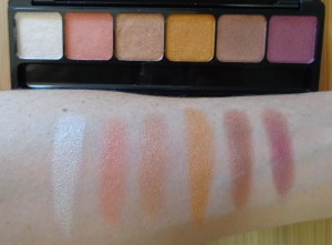 Sunset swatches