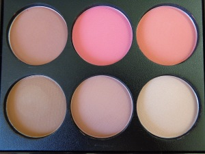 Pro Blush and Highlight Palette in Pinks and Fair Contour.