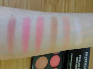 Pinks and Fair Contour - swatches.