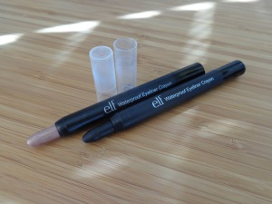 Waterproof Eyeliner Crayons: Champagne and Pitch Black