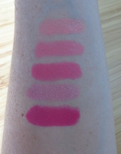 Lip Crayon swatch close-ups