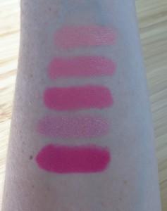 Lip Crayon swatch close-ups