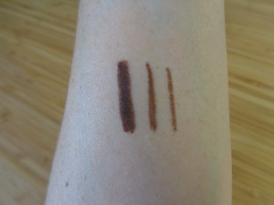 Brunette swatches.