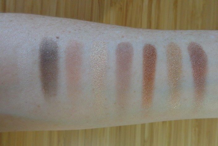 Left of Palette swatches - top to bottom, left to right.