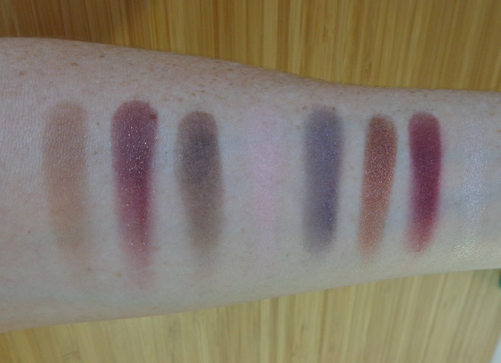 Right of Palette swatches - top to bottom, left to right.