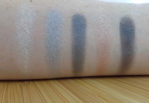 Smokey Swatches (left to right, top to bottom): Stepping Out, Different Light, Weave Your Magic, Simply Stunning, Dreaming.