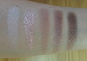 Rosy Third Swatches (top to bottom, left to right): Strip Me, Let Loose, Get Loose, Naked Nights, Super Cool.