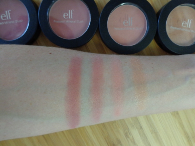 From left to right: Wanderlust, Jet Setter, Sweet Retreat and Baked Peach.