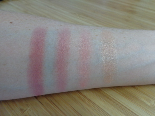 Swatches: Wanderlust, Jet Setter, Sweet Retreat, Baked Peach