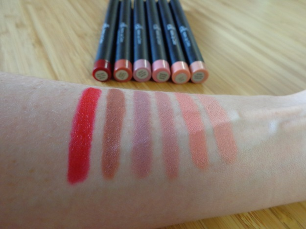 E.L.F matte lip colour swatches