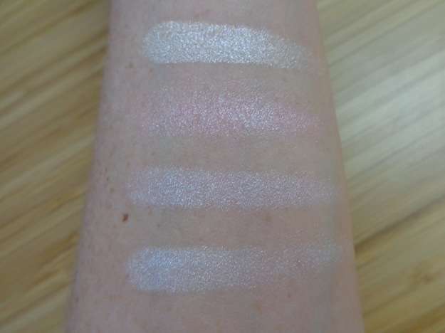 Swatches of top row