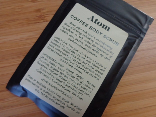 Atom Coffee Body Scrub.