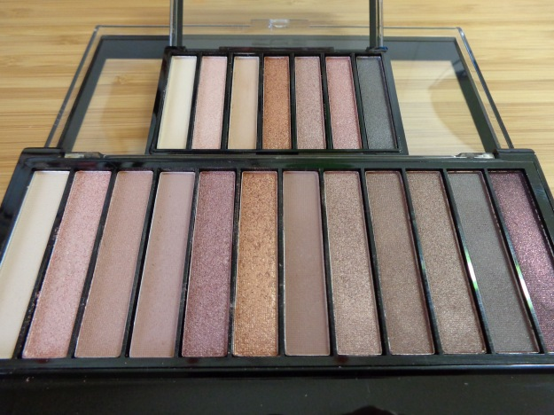 'Heroine' mini palette compared to the Makeup Revolution Iconic 3